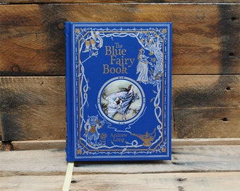 Hollow Book Safe - The Blue Fairy Book - Leather Bound