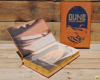 Book Safe - Dune - Leather Bound Hollow Book Safe