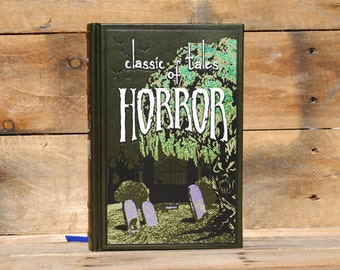 Hollow Book Safe - Classic Tales of Horror - Green Leather Bound