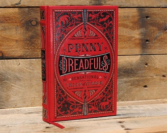 Hollow Book Safe - Penny Dreadfuls Sensational Tales of Terror - Leather Bound (FS59S)
