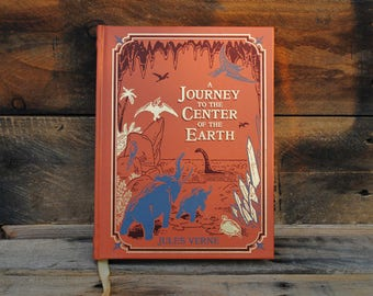 Book Safe - Journey to the Center of the Earth - Leather Bound Hollow Book Safe