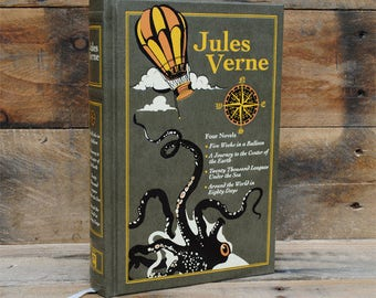 Book Safe - Jules Verne Collection - Leather Bound Hollow Book
