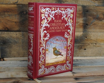 Hollow Book Safe - Classic Fairy Tales - Red Leather Bound
