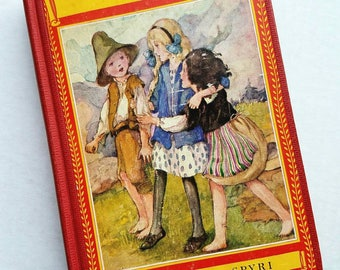"Vintage ""Heidi"" by Johanna Spyri.  David McKay Newbery Classics. Copyright 1923. Art by Anne Anderson. Kids classics. Children's lit."