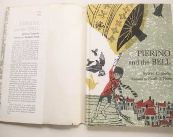 "Autographed ""Pierino and the Bell"" by Sylvia Cassedy. 1966 First edition with dust-jacket. Art by Evaline Ness. Tuscany. Children's books."
