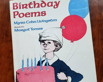 Birthday Poems by Myra Cohn Livingston. First edition. 1989. Children's poetry. Poems for kids.