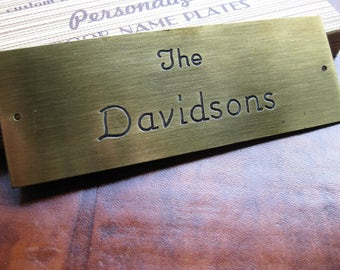 Vintage Davidsons name plate / door plate. Brass plaque. This is a vintage item. Not customizable.