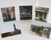 Set of 6 lovely scenic view note cards