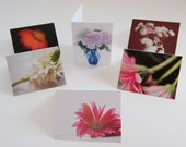 6 mixed bouquet of flowers note cards