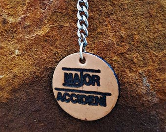 Major Accident Leather Dangle Earring