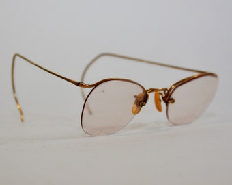 b298165ce183e Antique American Optical AO 1 10 12K G.F. Gold Wire Eyeglasses Numont  Ful-Vue 1930  FREE SHIPPING U.S.A.