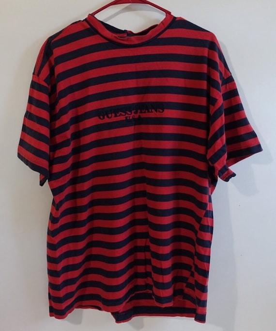 guess striped t shirt vintage