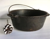 Griswold Wagner Ware Cast Iron Dutch Oven with Handle 5 Quart Griswold Dutch Camp Model B No Lid