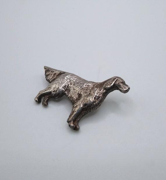 Vintage Sterling Brooch Figural Dog Pointer Sette… - image 3