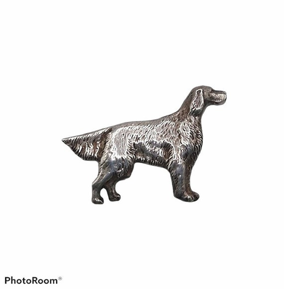 Vintage Sterling Brooch Figural Dog Pointer Sette… - image 1