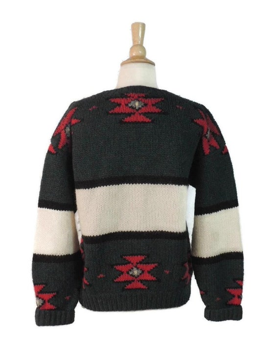Vintage 80s Sweater / 70s Woolrich Mens Novelty P… - image 6