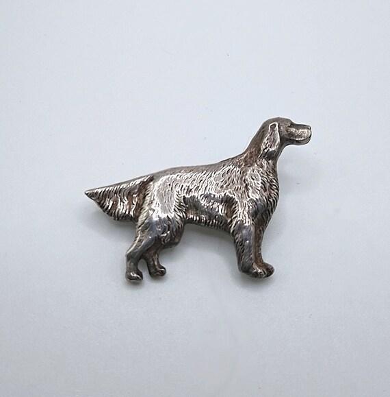 Vintage Sterling Brooch Figural Dog Pointer Sette… - image 2