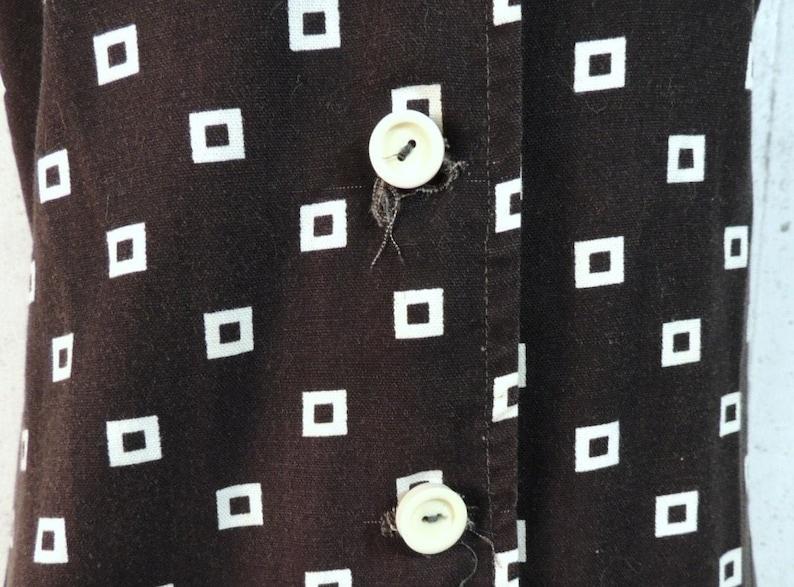 Vintage 60s Romper  Byer Black White Geometric Squares Peep Shorts Skorts Tennis Jumper