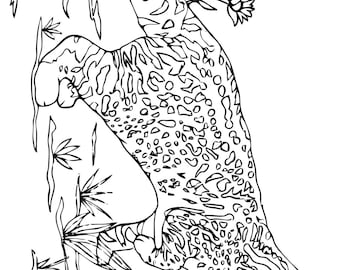 Kodkod Cat Printable Coloring Page Downloadable