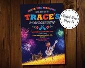 Coco Birthday Invitation, Hector and Miguel Invitation, Disney Coco Birthday Invitation, Marigold Bridge