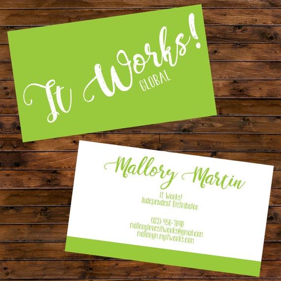 Printable It Works Global Business Cards Digital File