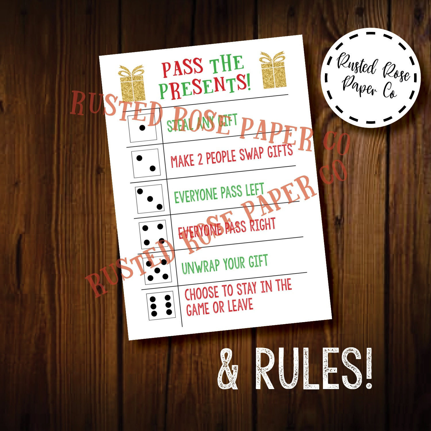 Christmas Gift Exchange Game Card Gift Swap Chinese ...