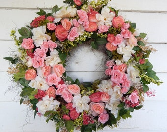 70bbf7786 Delicious Summer Silk Floral Wreath