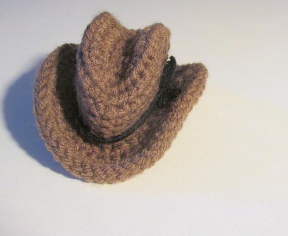 Mini Cowboy Hat Pdf Crochet Pattern Instant Download Etsy
