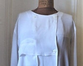 Moods by KRIZIA, BLOUSE, Mariuccia Mandelli, 100 Rayon body, Made in Hong Kong, Size Small, The Limited 1980s, Soft and Drapey