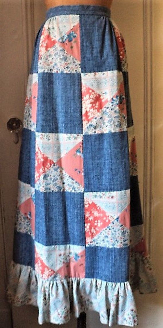 VINTAGE MOUNTAIN ARTISANS, MaXi Skirt, PaTCHWoRK S