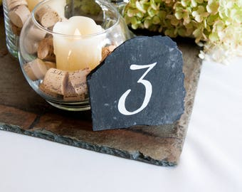 Slate Table Numbers - Script (Qty 1-10)