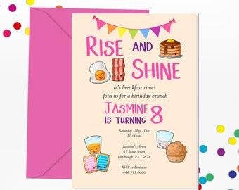 brunch kids invite etsy