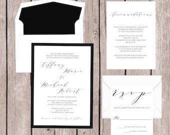 Wedding Invitation, Wedding Invites, Wedding Invitation Set, Wedding Invitation Suite, Modern Wedding Invitation, Custom Wedding Invitation