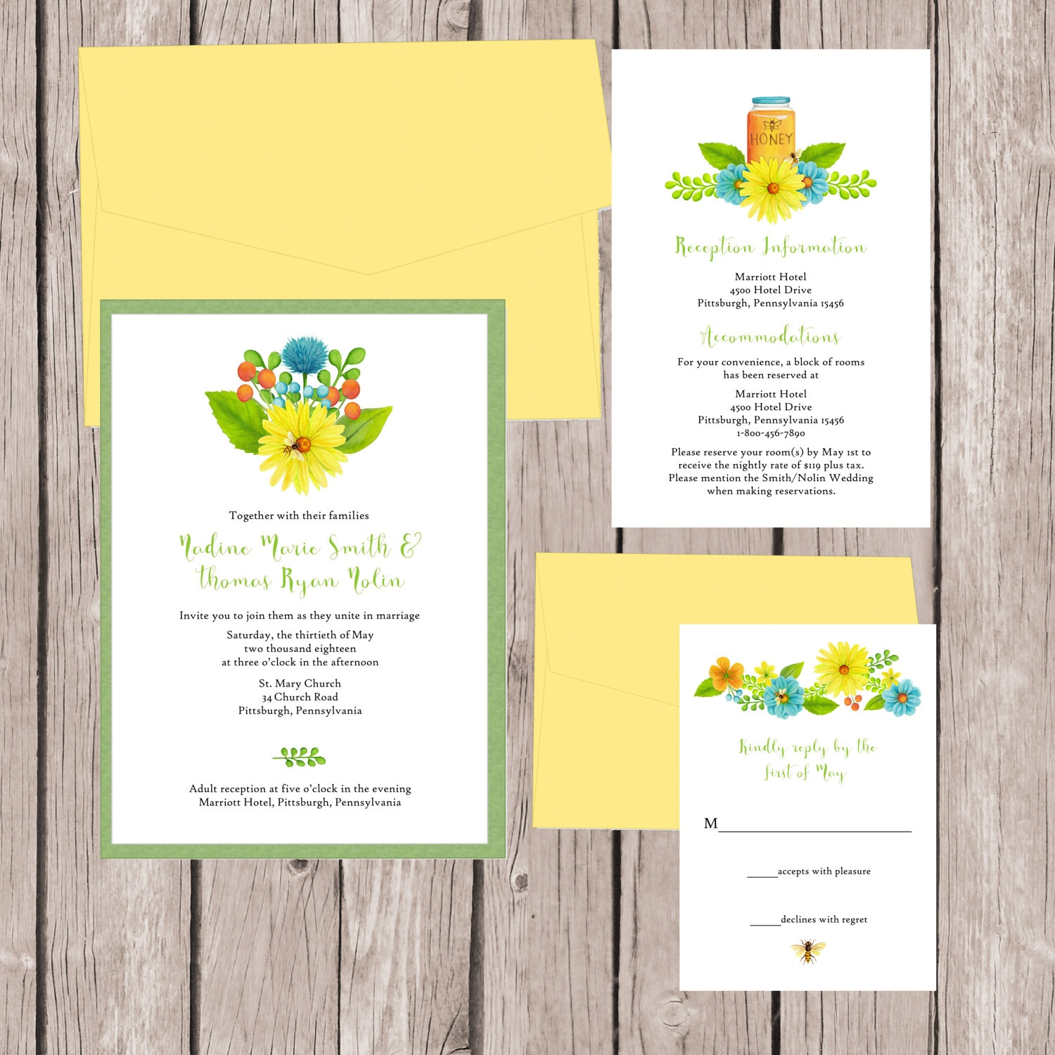 When Should Wedding Invitations Be Ordered: Flower Wedding Invitations Summer Wedding Invitation