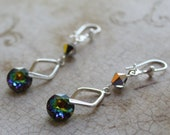 Swarovski Crystal Classic Cut earrings (Vitrail Medium)