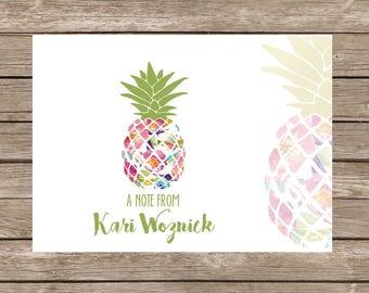 Modern Pineapple Mosaic Notecards - Set of 20