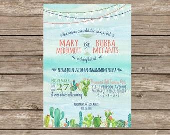 Elegant Fiesta Engagement Party Invitation