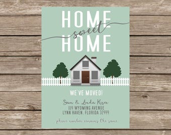 Modern Moving Announcement - Home Sweet Home