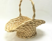 large chunky flower basket, Easter Basket, 13 quot x9.5 quot wide, 12 quot tall