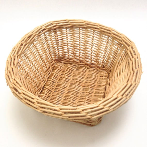 small oval willow basket for gift giving storage.htm bulky weave heavy duty wicker basket 10 5 wide 5 etsy  bulky weave heavy duty wicker basket 10
