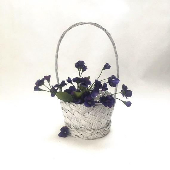 small oval willow basket for gift giving storage.htm white wicker basket easter basket flower girl white wedding etsy  white wicker basket easter basket