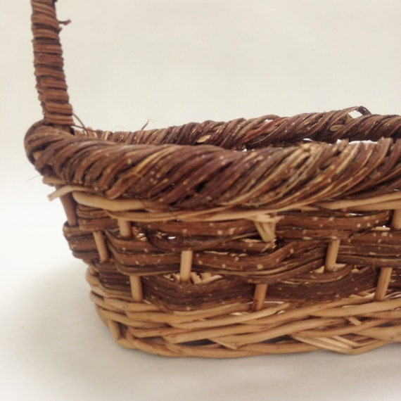 small oval willow basket for gift giving storage.htm chunky oval basket with handle rustic farmhouse decor gift etsy  handle rustic farmhouse decor gift