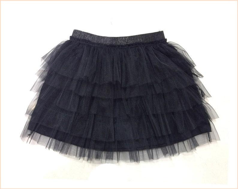 5999e91e99 Black tulle skirt for girls Girl Lace skirt Girls mini | Etsy