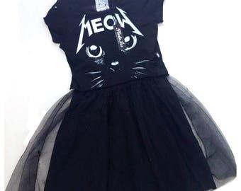 Womans festival dress Women dresses Cat dress Tutu dress Black dress Punk dress Festival clothing Burning man Burning man clothing