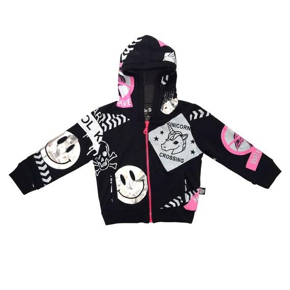 63d79c47c Zipper hoodie Baby boy hoodie Black Toddler hooded | Etsy
