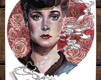 """Blade Runner Art Print - """"She Doesn't Know"""""""