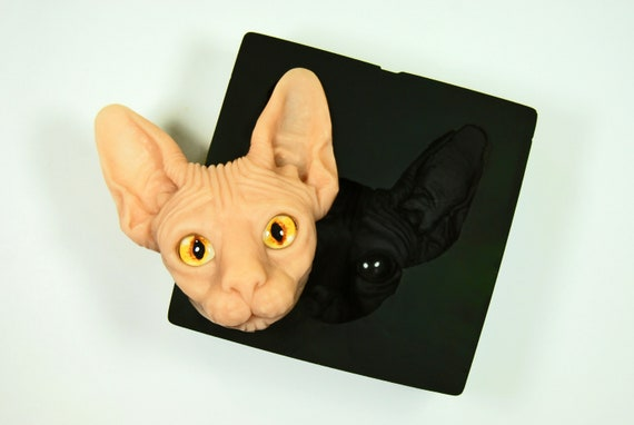 Sphynx cat plastic mold plastic soap mold soap making soap mould molds soap mold