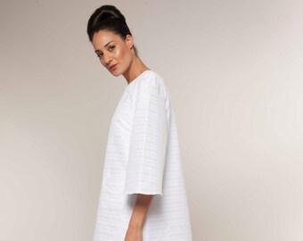 Mother In Law Gift, A Line Dress, Bohemian Dress, Bridesmaid Dress, Handmade Dress, Summer Dress, White Midi Dress, Womens Gift, For Her