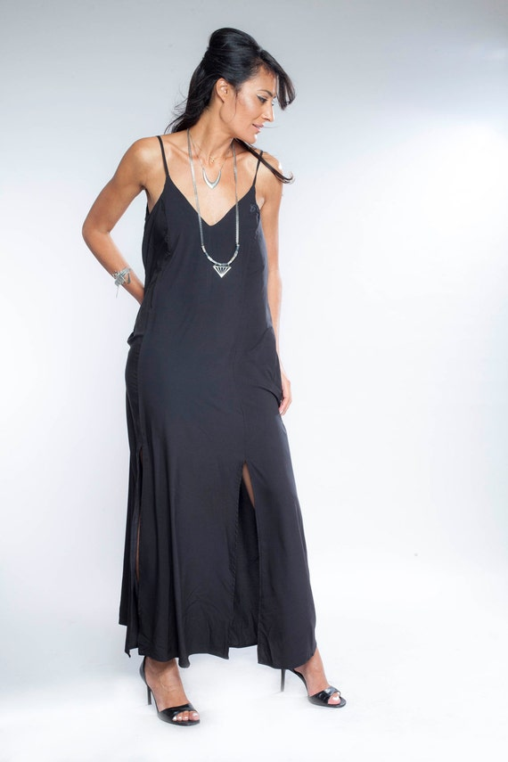Womens Gift Black Maxi Dress Bridesmaid Dress Tank Top Etsy