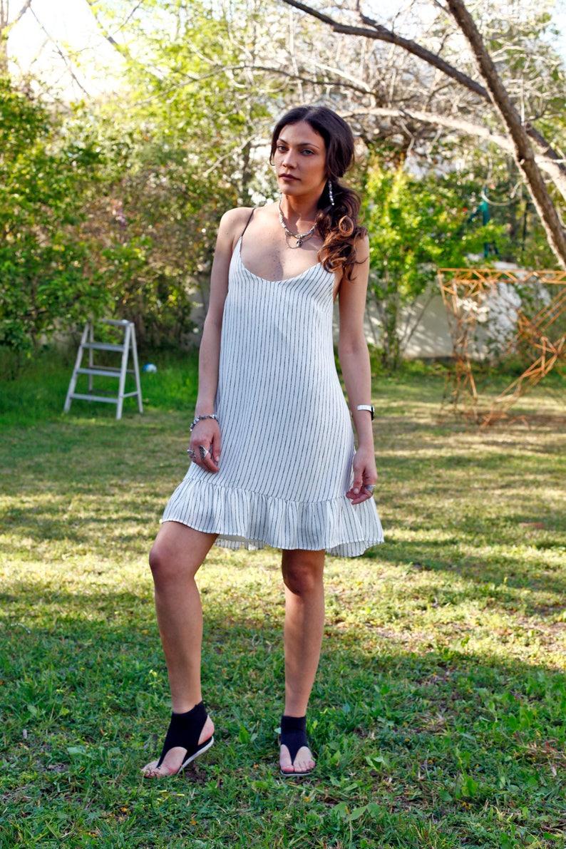 White Mini Dress Sleeveless Dress White Sundresses for Beach  68bf8e2bc